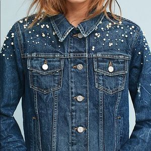 Anthropologie/ pilcro the letterpress jean jacket